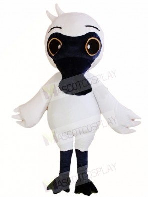 Black Face White Bird Mascot Costumes Animal