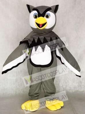 Cute Gray Cool Owl Mascot Costumes Bird Animal