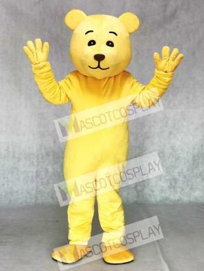 Cute Yellow Teddy Mascot Costume Animal