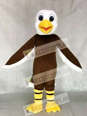 Lovely Brown Bald Eagle Mascot Costume