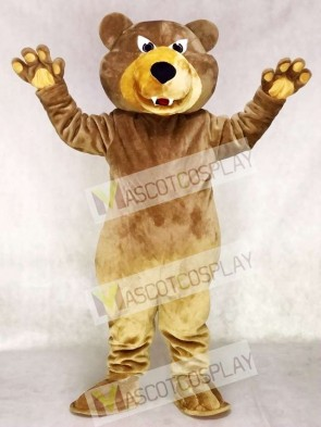Fierce Brown Bear Mascot Costume Grizzlies Mascot Costume