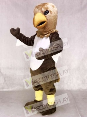 Brown Tail Hawk Mascot Costume