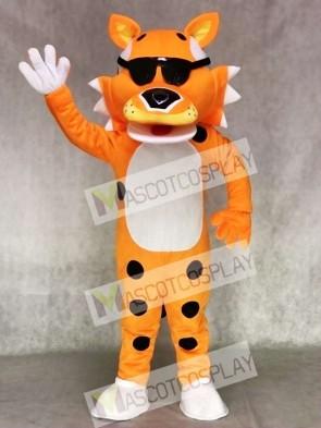 Cute Orange Chester Cheetah with SunGlasses Mascot Costume