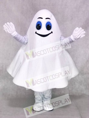 White Ghost Halloween Party Mascot Costume