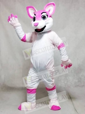 Pink Husky Dog Fursuit Mascot Costumes Animal