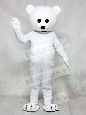 Black Nose White Bear Mascot Costume