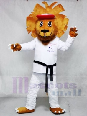 Happy Taekwondo Lion Mascot Costumes Animal