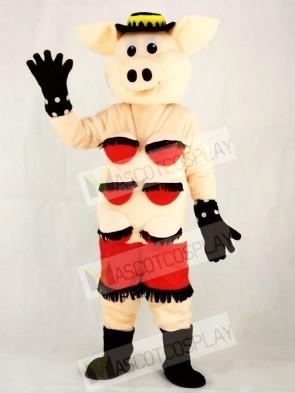 Puppets Striptease Strip Pig Swinish Mascot Costumes Animal