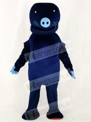 Zoo Navy Blue Manatee Mascot Costumes Animal
