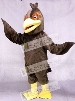 Brown Feather Hawk Falcon Eagle Mascot Costume Animal