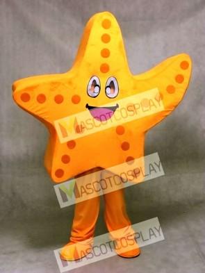 Cute Orange Starfish Mascot Costume Ocean