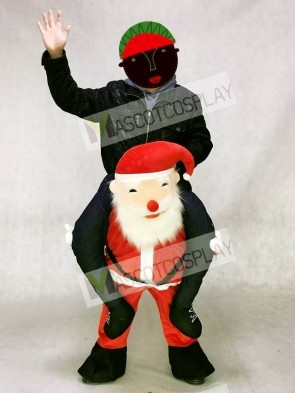 Santa Claus Carry Me Ride Piggyback Father Christmas Mascot Costume