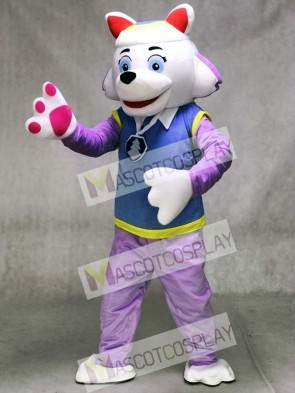 Paw Patrol Everest Husky Dog Mascot Snowy Mountain Pup
