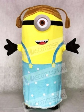 Crazy Me Female MINIONS Despicable Me Stuart Mascot Costumes