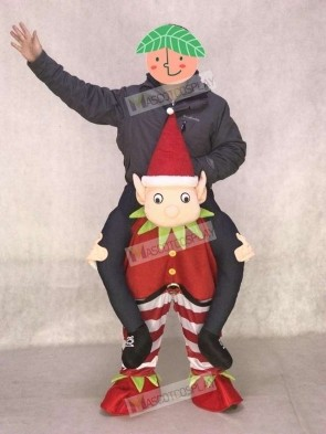 Carry Me Ride on Red Elf Piggyback Elf Mascot Costume