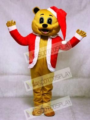Brown Christmas Bear Mascot Adult Costume Animal