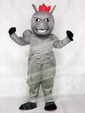 Gray Power Horse Mascot Costumes Animal