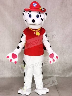 Paw Patrol Marshall Dog Mascot Costume with Red Clothing Animal
