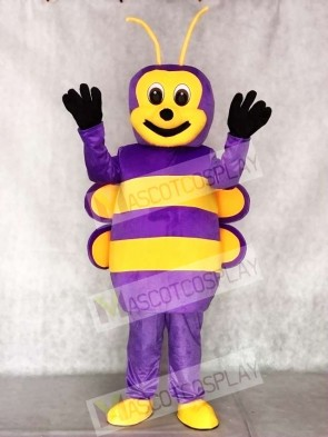 Lovely Purple Bee Mascot Costumes Insect