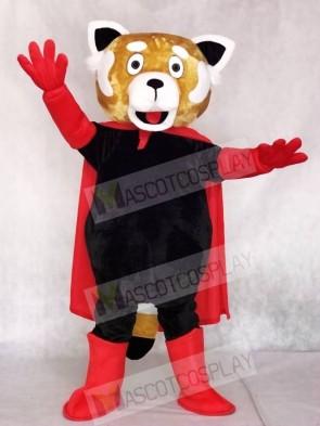 Red Lesser Panda Cat-Bear with Cloak Mascot Costumes Animal