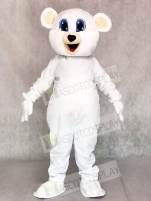 Cute White Bear Mascot Costumes Animal