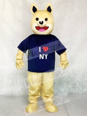 Parky I Love NY Dog Mascot Costumes Animal