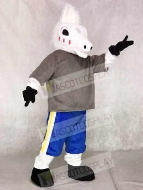 Cute Sport School Horse Mascot Costumes Animal
