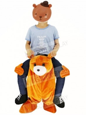For Children/ Kids Ride on Brown Teddy Bear Carry Me Ride Mascot Costume Stuffed Stag Christmas Xmas