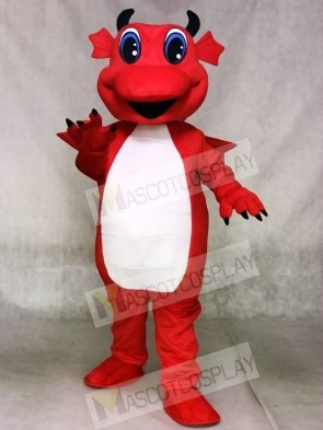 Red Dragon with White Belly Mascot Costumes Animal