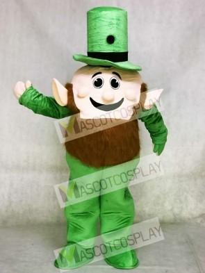 Leprechaun Mascot Costume with Green Hat