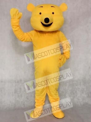 Cartoon Yellow Bear Mascot Adult Costume