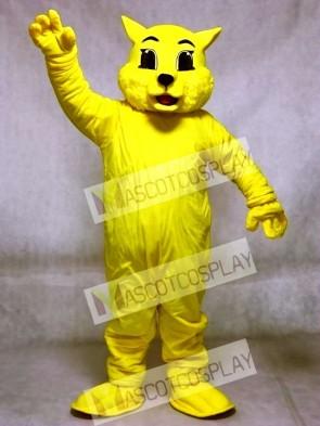 Cute Yellow Wildcat Cat Mascot Costumes Animal