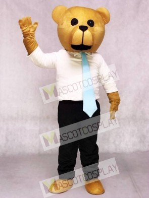 New Bruce Bear with Tie Mascot Costumes Animal