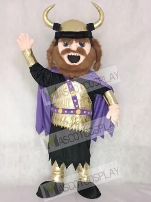 Fierce New Viking Mascot Costume with Purple Cloak