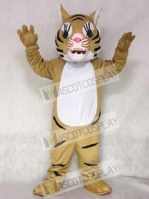 Brown Big Cat Tiger Mascot Costume