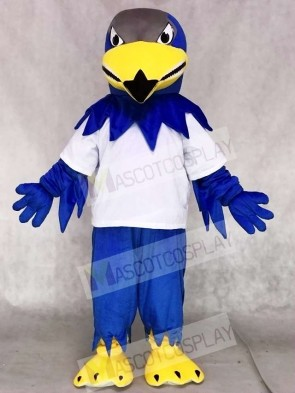 White Sport Shirt Blue Falcon Eagle Mascot Costumes Animal