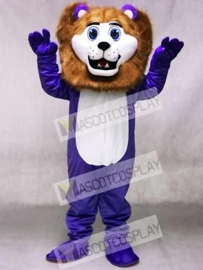 Custom Color Purple Cute Andy Lion Mascot Costumes