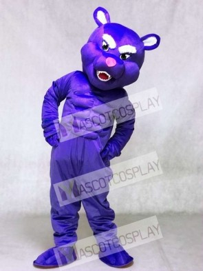 Cute Purple Muscle Panther Mascot Costumes Animal
