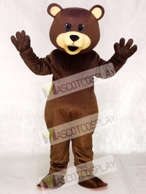 Brown Toy Teddy Bear Mascot Costumes Animal