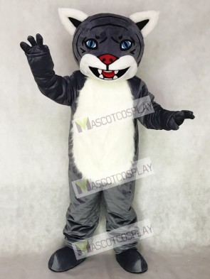 Cute New Gray Wildcat Cub Mascot Costume Animal