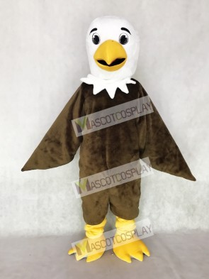White Head Friendly Brown Eagle Mascot Costume Animal