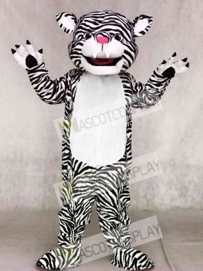 Black and White Tiger Mascot Costumes Animal