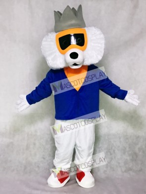 Cute Alley Cat with Blue Shirt Mascot Costume
