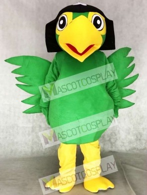 Realistic Green Pirate Parrot Bird Mascot Costumes
