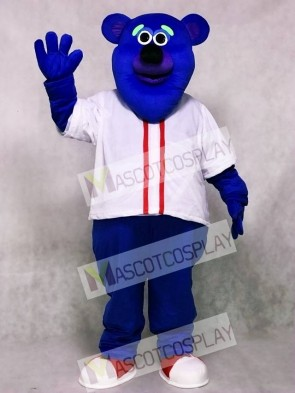 Custom Color Blue Fresno Grizzlies Parker T. Bear Mascot Costume