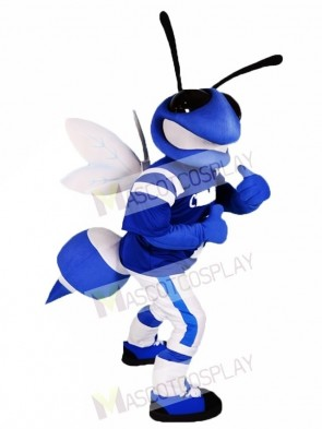Blue and White Bee Mascot Costumes Insect