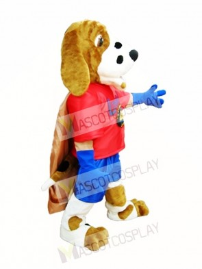 Dog with Cloak Mascot Costume Library Dog Mascot Costumes Animal