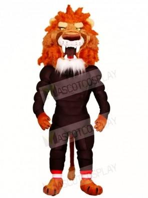 Fierce Muscle Lion Mascot Costumes Animal