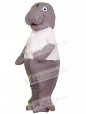 Manatee in White Shirt Mascot Costumes Animal