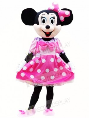 Minnie Mouse in Pink Dress Mascot Costumes Cartoon